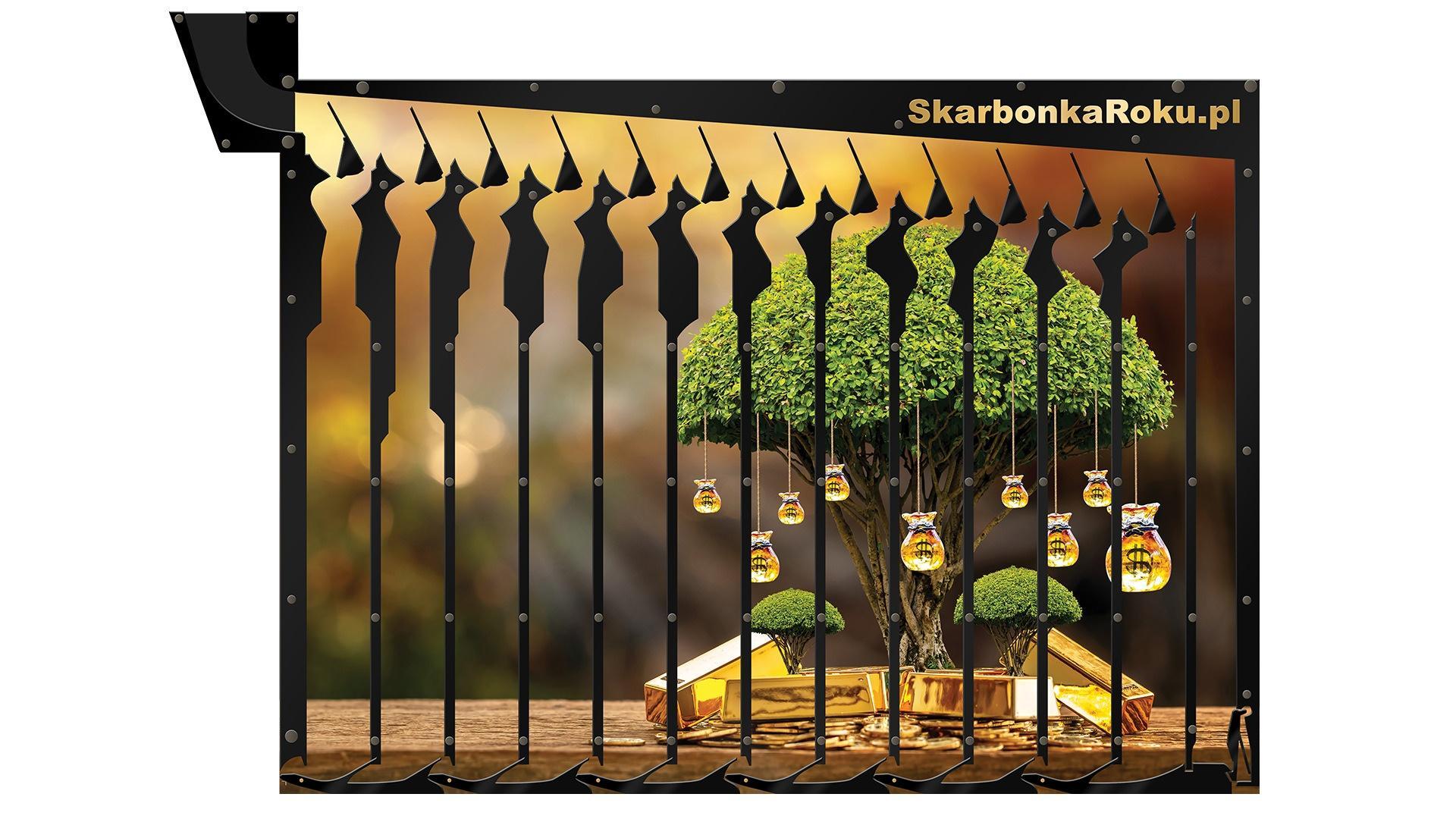 Skarbonka Drzewko złota