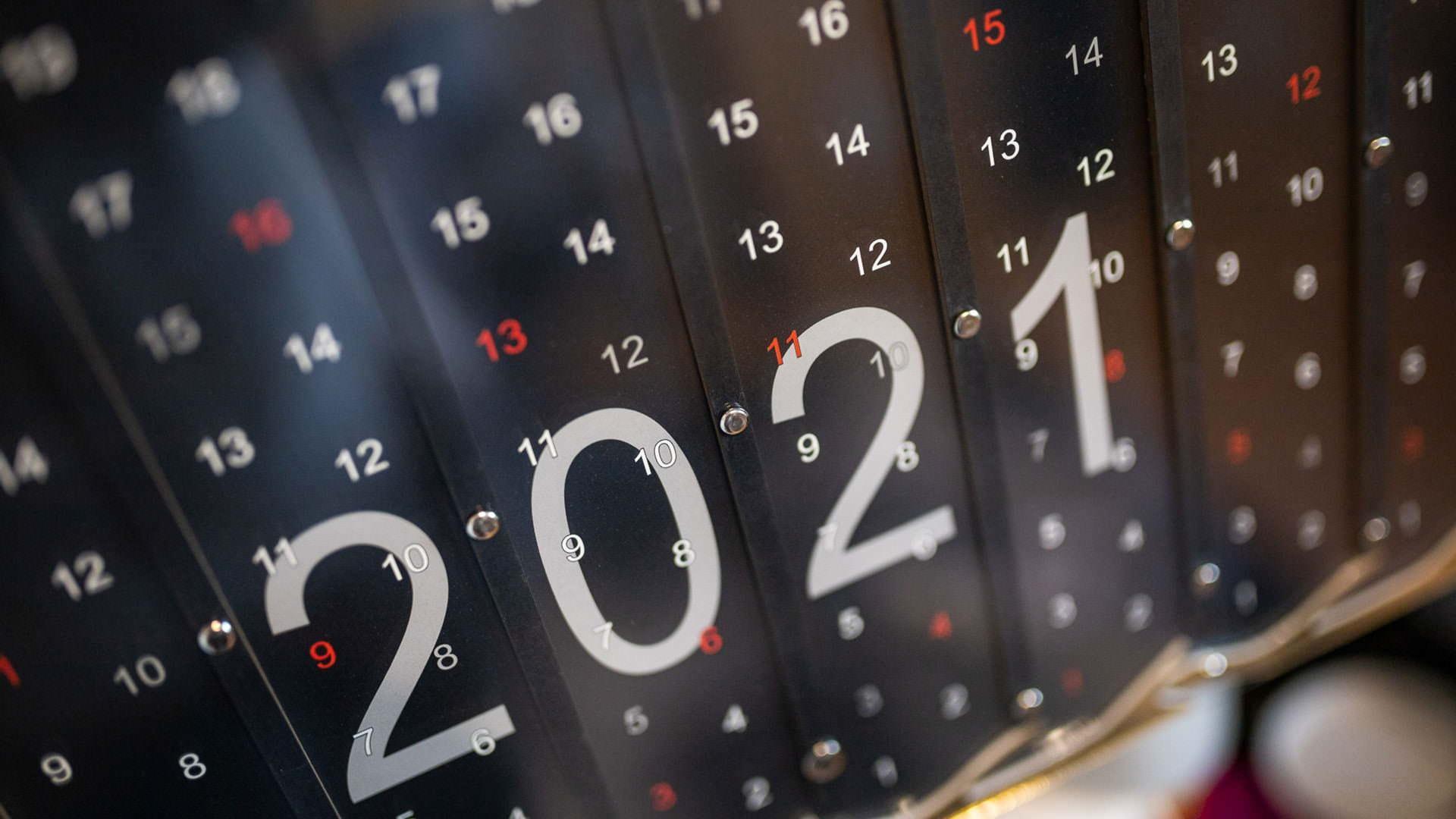 Kalendarz 2021 czarny