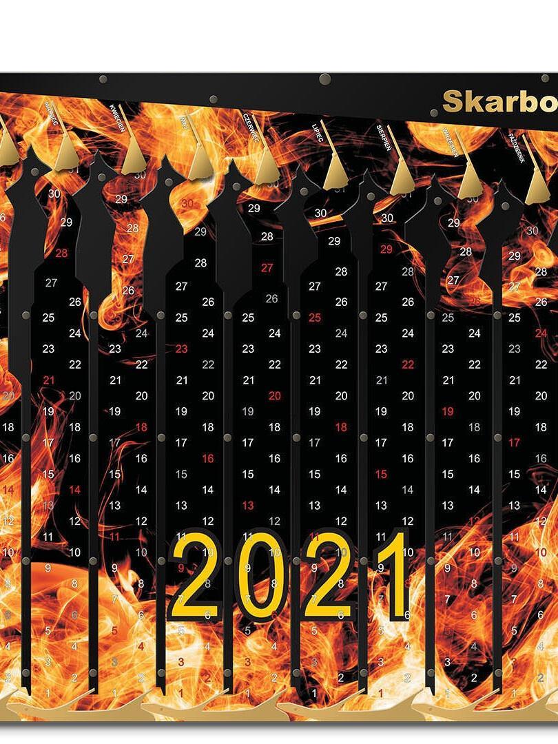 Kalendarz 2021 Ogień
