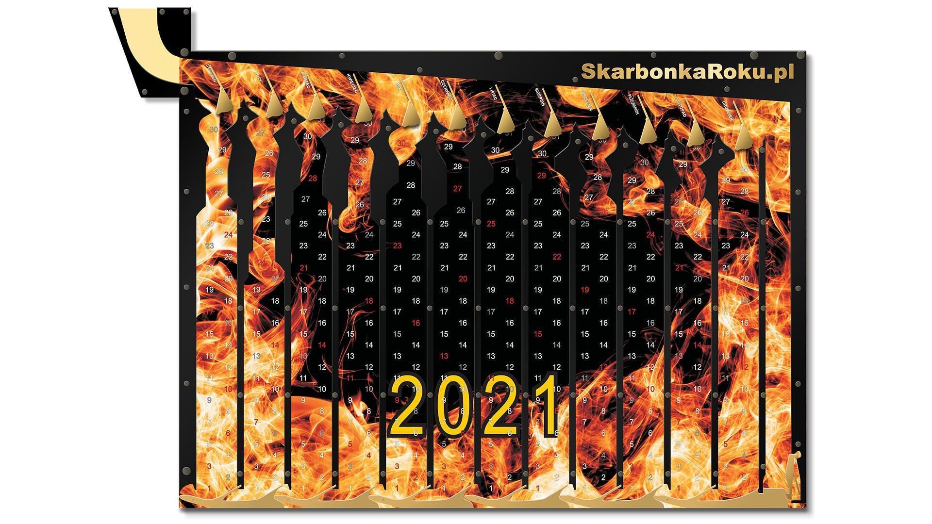 kalendarz 2021 ogien